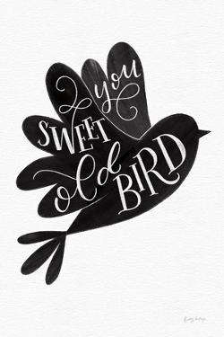 Sweet Old Bird BW by Becky Thorns