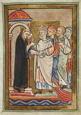 Miniature Of Ecgfrith by Bede
