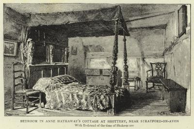 Bedroom in Anne Hathaway's Cottage at Shottery, Near Stratford-On-Avon
