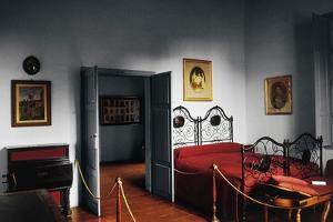 Bedroom in Giuseppe Garibaldi's House, Garibaldi Compendium Museum, Caprera Island, Sardinia, Italy