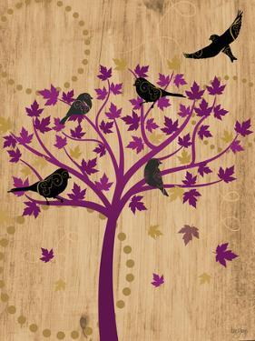 Blackbirds in Tree by Bee Sturgis