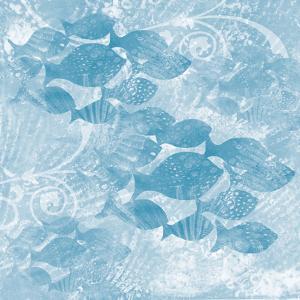 Blue Ocean School of Fish by Bee Sturgis