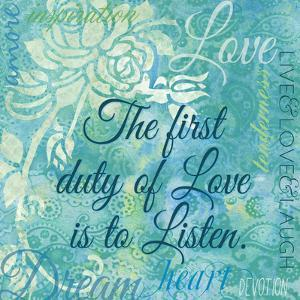 Love and Listen by Bee Sturgis