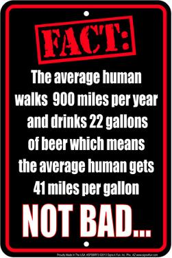 Beer Fact Tin Sign