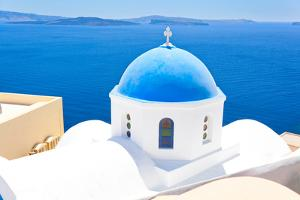 Church in Santorini, Greece - Stock Image by beerkoff