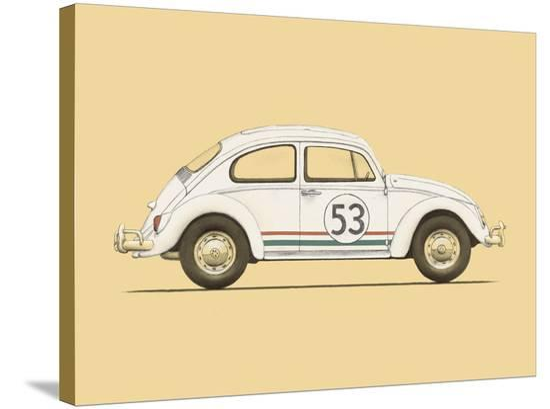 Beetle-Florent Bodart-Stretched Canvas Print