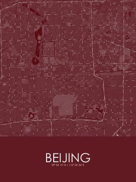 Beijing, China Red Map