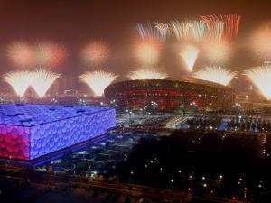 Beijing Olympics Opening Ceremony, Bird's Nest and Water Cube, Beijing, China