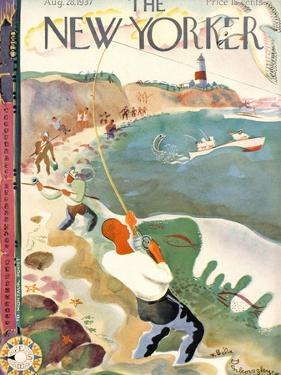 The New Yorker Cover - August 28, 1937 by Bela Dankovszky