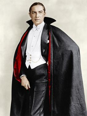 Bela Lugosi dressed in costume for his role in the Broadway play, 'Dracula,' 1927-1928
