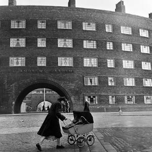 Young Mother in Liverpool, 1954 by Bela Zola