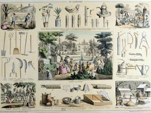 Educational Depiction of Gardening by Belin & Bethmont