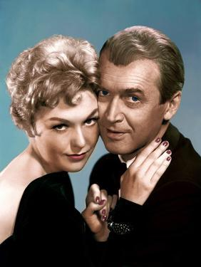 BELL, BOOK AND CANDLE, 1958 directed by RICHARD QUINE Kim Novak and James Stewart (photo)