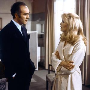 Belle by jour by Luis Bunuel with Michel Piccoli and Catherine Deneuve, 1967 (photo)