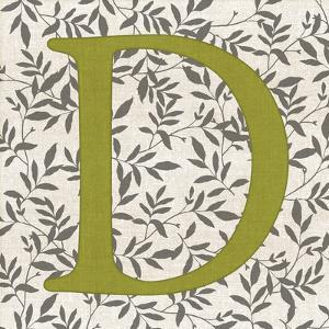 Leafy Letter - D by Belle Poesia