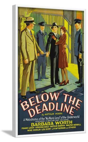 Below the Deadline--Framed Art Print
