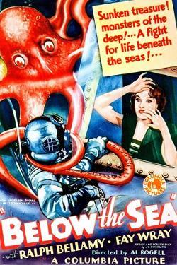 Below The Sea, US poster art, Fay Wray, 1933