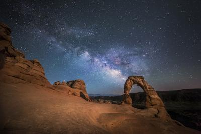 The Milky Way Shines over Delicate Arch at Arches National Park, Utah
