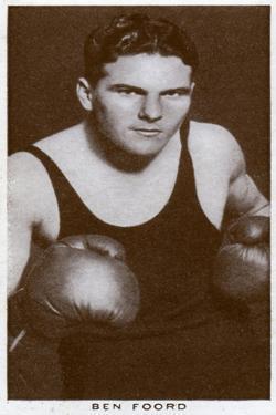 Ben Foord, South African Boxer, 1938