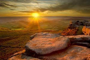 Scenic View from Higger Tor at Sunset, Peak District Np, UK, September 2011 by Ben Hall