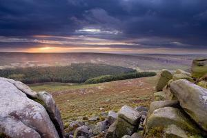 View from Higger Tor at Dawn, Peak District Np, UK, September 2011 by Ben Hall