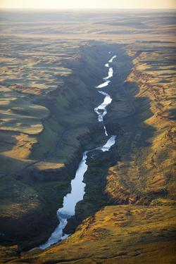 Aerial Photo of the Palouse River Which Has Cut a Canyon Through the Scablands of East Washington by Ben Herndon