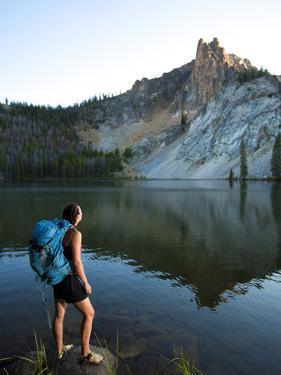 Hatchett Lake While on a Backpacking Trip in the White Cloud Mountains in Idaho. by Ben Herndon