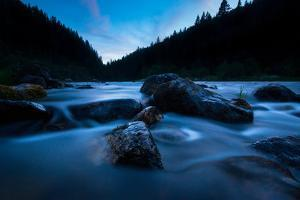 Hues Of Blue From Pristine Flowing Waters Of The Northfork Of The Clearwater River In North Idaho by Ben Herndon