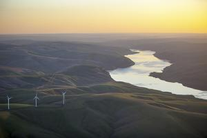 Large Windmills at Sunset Near the Snake River in Eastern Washington by Ben Herndon