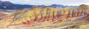 Panorama Of The Painted Hills In The John Day Fossil Beds National Monument In Eastern Oregon by Ben Herndon
