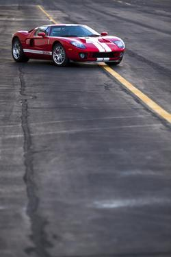 The 550 Horsepower Ford Gt Supercar at an Airstrip on San Juan Island in Washington State by Ben Herndon
