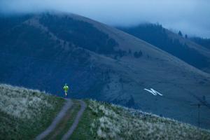 Ultra Runner Kristina Pattison, Predawn Run Along Waterworks Trail Outside Missoula, Montana by Ben Herndon