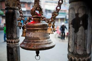 A Bell Adorns a Hindu Shrine by Ben Horton