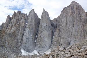A Climber on the Difficult Approach to Climb Mount Whitney by Ben Horton
