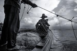 Andaman Sea: Fishermen Haul in their Net in the Andaman Sea by Ben Horton