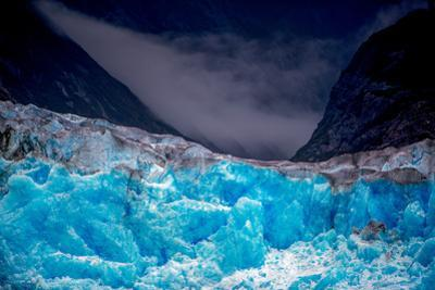 Glacier ice and mountains in southeastern Alaska. by Ben Horton