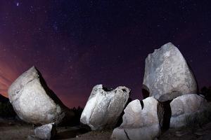 Granite Rocks under Stars in Joshua Tree National Park by Ben Horton