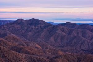 Keys View and the Salton Sea at Sunset in Joshua Tree National Park by Ben Horton