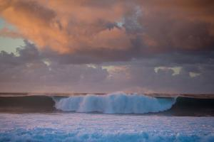 Powerful Waves Crash on the North Shore of Oahu by Ben Horton