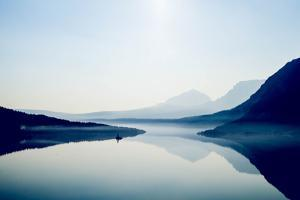 Saint Mary Lake and Wild Goose Island at Glacier National Park in the Morning by Ben Horton