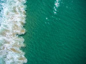 Turquoise Blue Water Breaks Against the Sand on Zuma Beach by Ben Horton