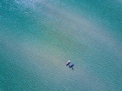 Two Paddleboarders in Ballandra Bay as Seen from the Air by Ben Horton