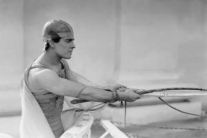 Ben Hur by Fred Niblo with Ramon Novarro, 1925 (b/w photo)