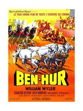 Ben-Hur, Charlton Heston, (French Poster Art), 1959