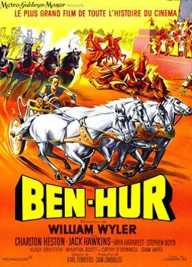 Ben-Hur, Charlton Heston, (French Poster Art), 1959