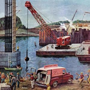 """""""Bridge Construction"""", March 9, 1957 by Ben Kimberly Prins"""