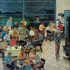 """""""Clubhouse on Rainy Day,"""" July 8, 1961 by Ben Kimberly Prins"""