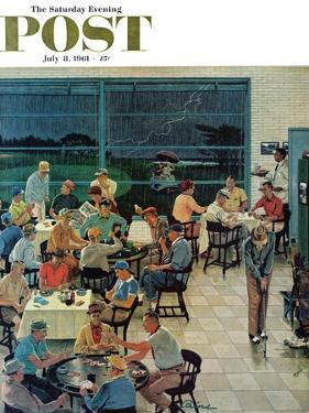 """Clubhouse on Rainy Day,"" Saturday Evening Post Cover, July 8, 1961 by Ben Kimberly Prins"