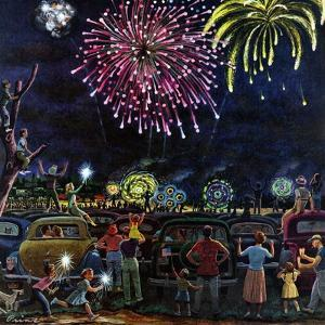 """Fireworks"", July 4, 1953 by Ben Kimberly Prins"