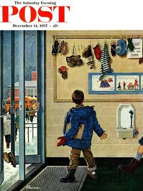 """Lost His Mitten"" Saturday Evening Post Cover, December 14, 1957 by Ben Kimberly Prins"